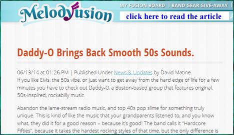 Daddy-O! featured on Melody Fusion - click to read the article
